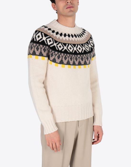 MAISON MARGIELA Printed wool sweatshirt Crewneck sweater [*** pickupInStoreShippingNotGuaranteed_info ***] r