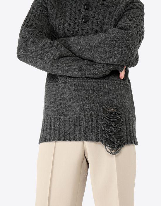 MAISON MARGIELA Destroyed pullover High neck sweater [*** pickupInStoreShippingNotGuaranteed_info ***] b