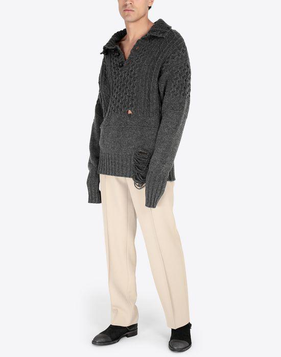 MAISON MARGIELA Destroyed pullover High neck sweater [*** pickupInStoreShippingNotGuaranteed_info ***] d