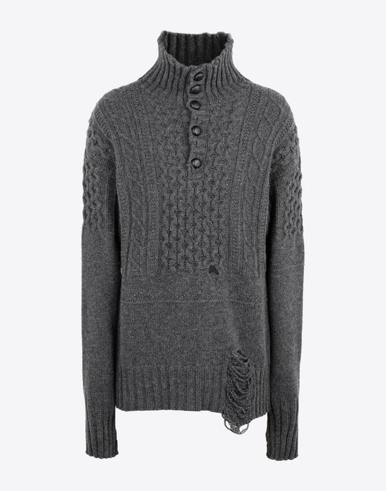 MAISON MARGIELA Destroyed pullover High neck sweater [*** pickupInStoreShippingNotGuaranteed_info ***] f