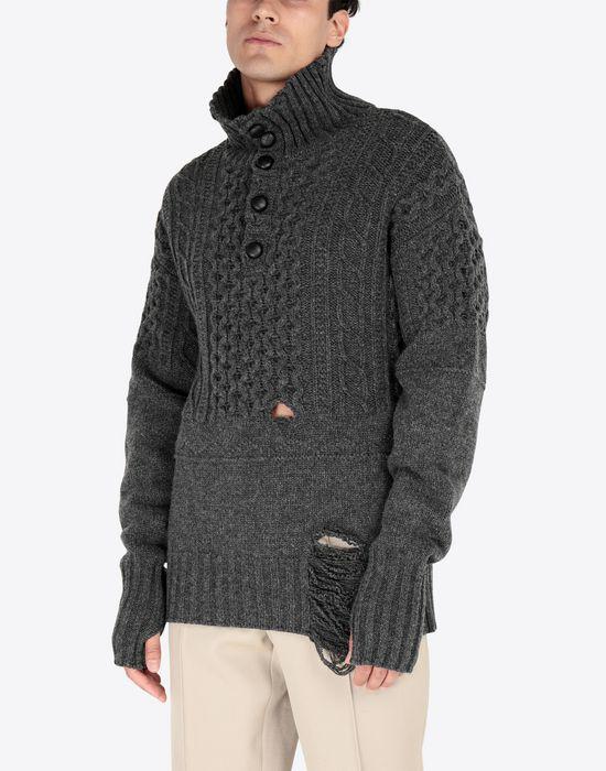 MAISON MARGIELA Destroyed pullover High neck sweater [*** pickupInStoreShippingNotGuaranteed_info ***] r