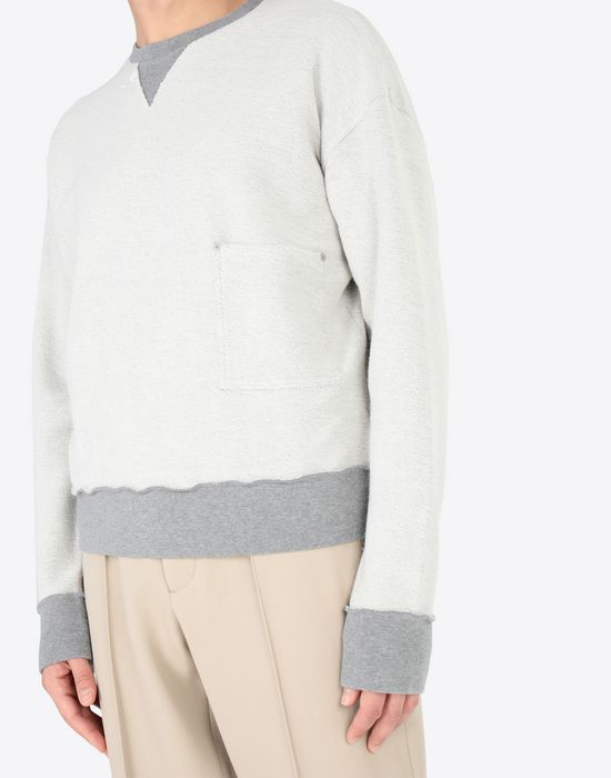 MAISON MARGIELA Contrasted cotton sweatshirt Sweatshirt [*** pickupInStoreShippingNotGuaranteed_info ***] a