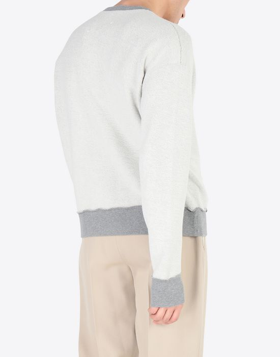 MAISON MARGIELA Contrasted cotton sweatshirt Sweatshirt [*** pickupInStoreShippingNotGuaranteed_info ***] e