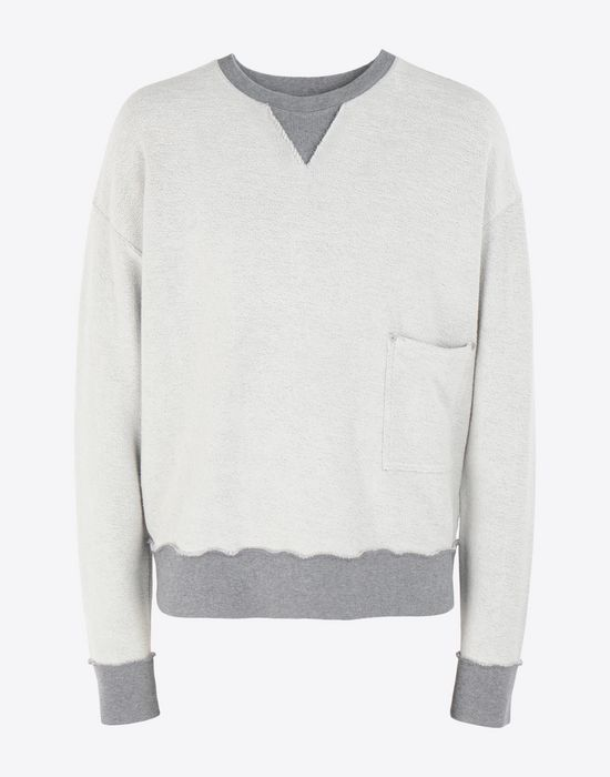 MAISON MARGIELA Contrasted cotton sweatshirt Sweatshirt [*** pickupInStoreShippingNotGuaranteed_info ***] f