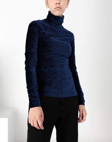 MM6 MAISON MARGIELA Top Woman Velvet jersey turtleneck top f