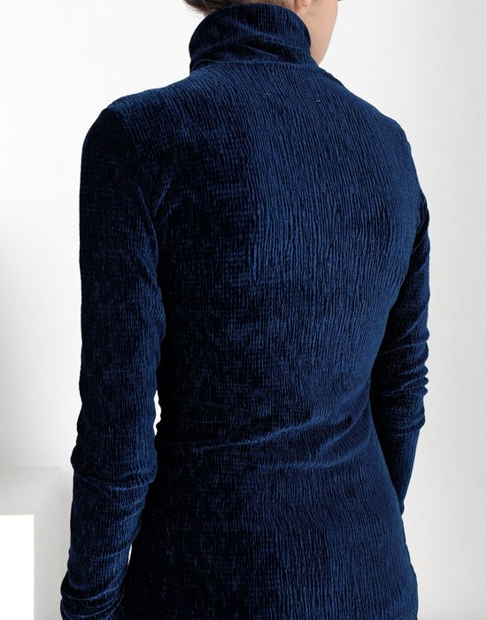 MM6 MAISON MARGIELA Velvet jersey polo neck top Top [*** pickupInStoreShipping_info ***] a