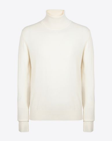 MAISON MARGIELA High neck sweater [*** pickupInStoreShippingNotGuaranteed_info ***] Cotton blend turtleneck f