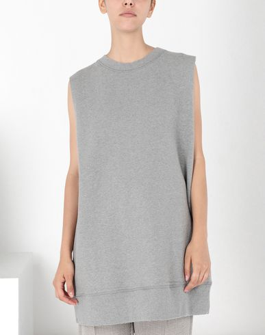 MM6 MAISON MARGIELA Sweatshirt Woman Sleeveless jersey sweatshirt f