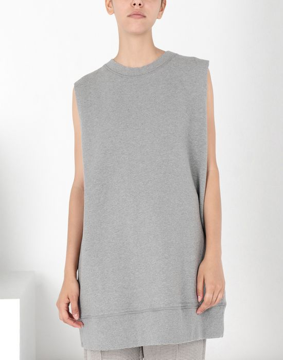 MM6 MAISON MARGIELA Sleeveless jersey sweatshirt Sweatshirt [*** pickupInStoreShipping_info ***] f