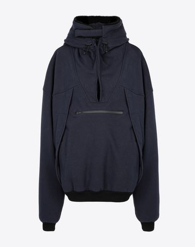 MAISON MARGIELA Sweatshirt Woman Oversized 'Decolleté' hooded sweatshirt f