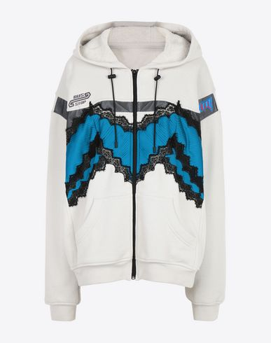 MAISON MARGIELA Hooded sweatshirt [*** pickupInStoreShipping_info ***] Two tone jersey sweatjacket f