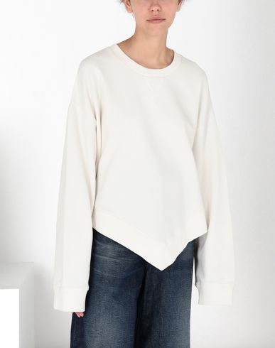 MM6 MAISON MARGIELA Sweatshirt Femme Sweat-shirt en coton asymétrique f