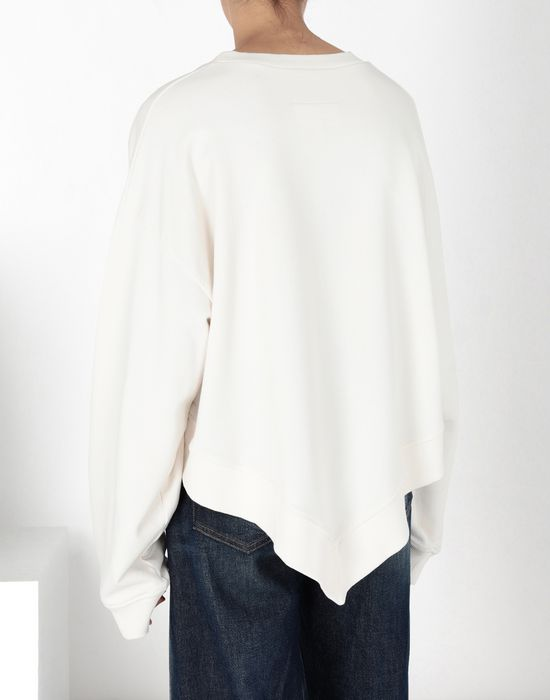 MM6 MAISON MARGIELA Asymetric cotton sweatshirt Sweatshirt [*** pickupInStoreShipping_info ***] d