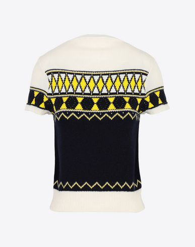 MAISON MARGIELA Short sleeve sweater Woman Cropped knitted top f