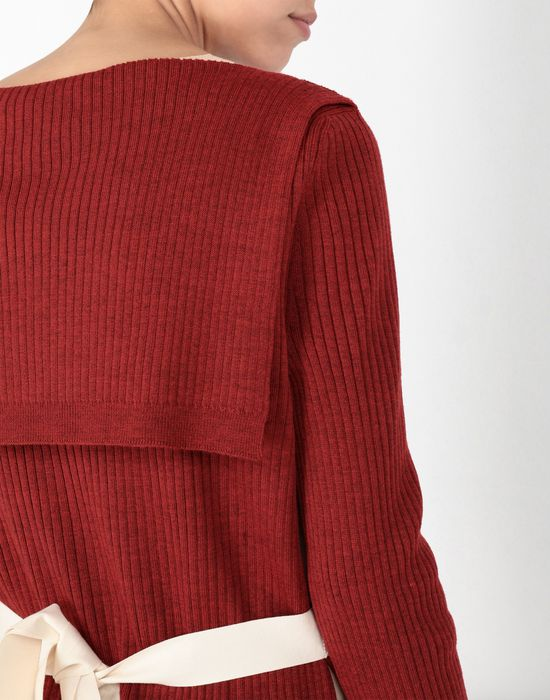 MM6 MAISON MARGIELA Cut-out knitwear pullover Long sleeve sweater [*** pickupInStoreShipping_info ***] a