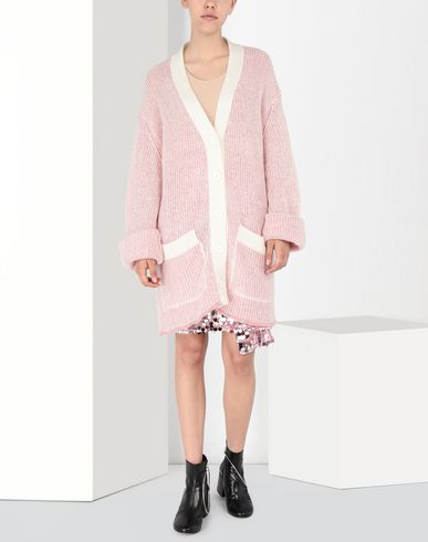 MM6 MAISON MARGIELA Cardigan Woman Pink mohair-blend knit cardigan f