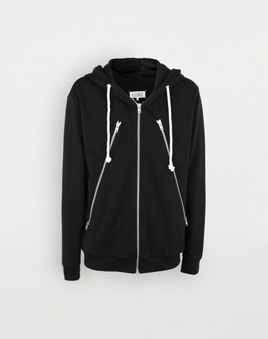MAISON MARGIELA Hooded sweatshirt Man Zip-detail cotton hoodie f