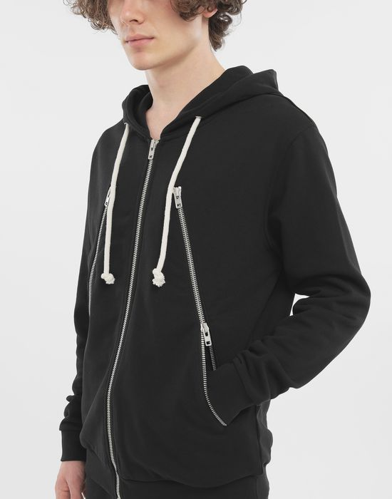MAISON MARGIELA Zip-detail cotton hoodie Hooded sweatshirt [*** pickupInStoreShippingNotGuaranteed_info ***] b