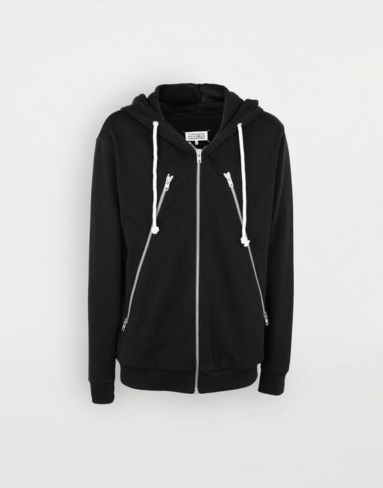 MAISON MARGIELA Zip-detail cotton hoodie Hooded sweatshirt [*** pickupInStoreShippingNotGuaranteed_info ***] f
