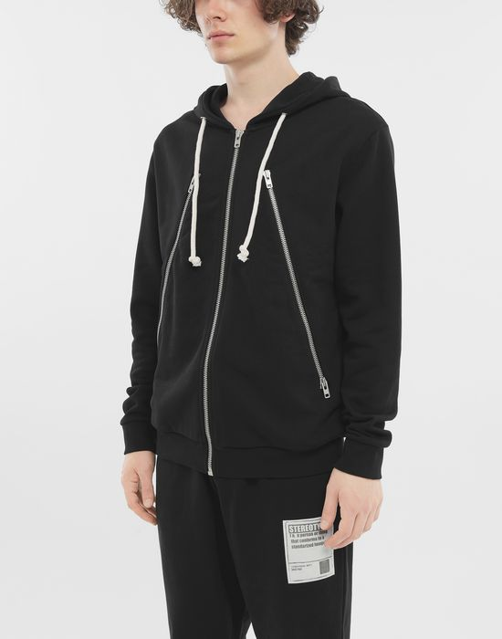 MAISON MARGIELA Zip-detail cotton hoodie Hooded sweatshirt [*** pickupInStoreShippingNotGuaranteed_info ***] r