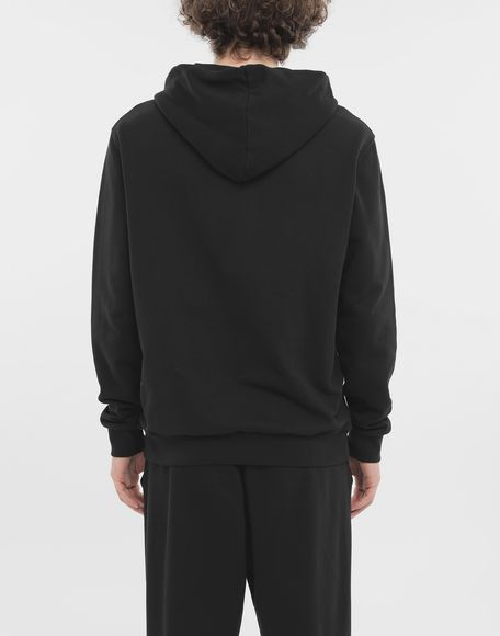 MAISON MARGIELA Zip-detail cotton hoodie Hooded sweatshirt Man e