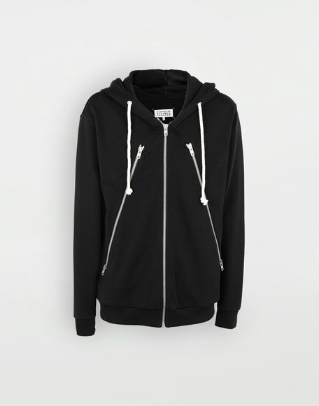MAISON MARGIELA Zip-detail cotton hoodie Hooded sweatshirt Man f