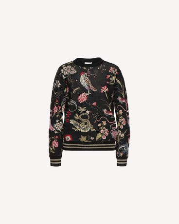 REDValentino QR3KC1C33W4 0NO Knit Sweater Woman a