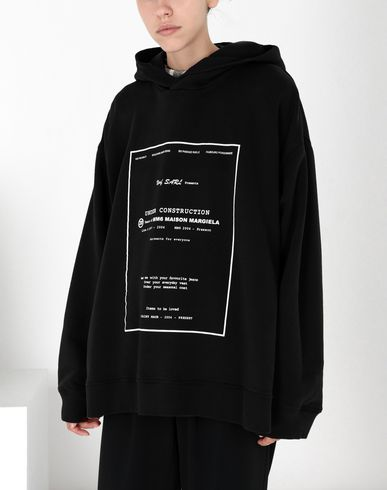 MM6 MAISON MARGIELA Sweatshirt Woman Printed oversized jersey sweatshirt f