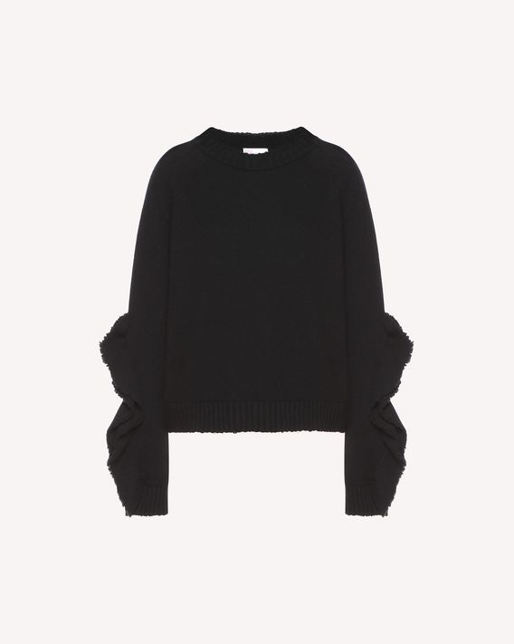 REDValentino Ruffles detail wool blend sweater