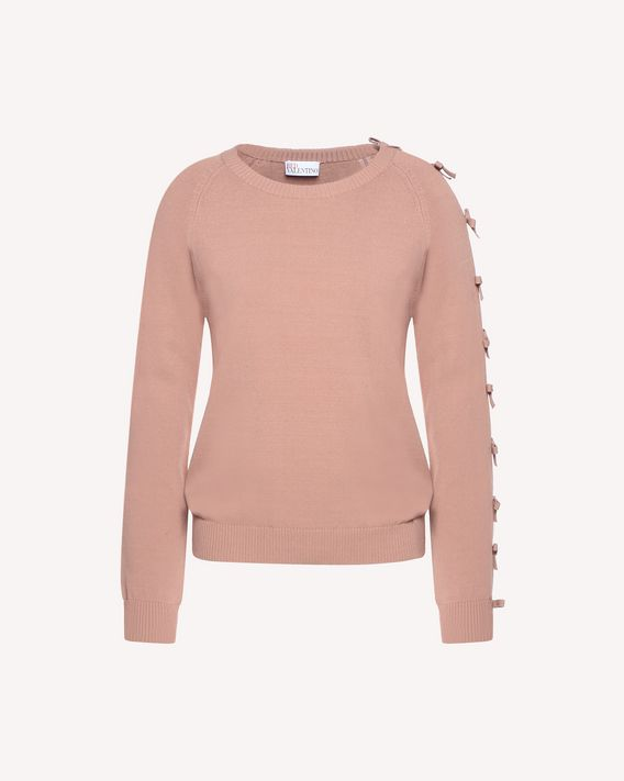 REDValentino Stretch viscose sweater with bow detail