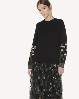 REDValentino Stretch viscose Garden of Metamorphosis embroidered sweater