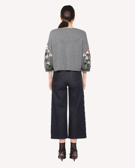 REDValentino Garden of Metamorphosis jacquard wool sweater