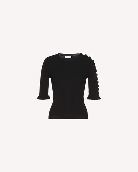 REDValentino Knit Sweater Woman QR3KC1A73WD 0NO a