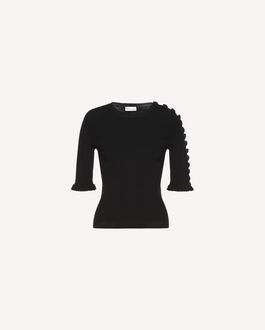 REDValentino Stretch viscose sweater with button detail