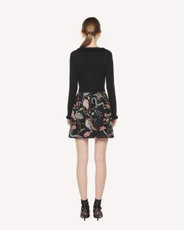 REDValentino Stretch viscose Flora and Fauna intarsia knit dress
