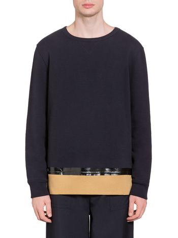 Marni Jersey sweatshirt with thermal adhesive band  Man