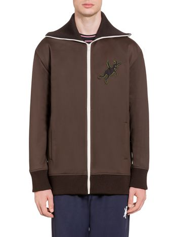 Marni Sweatshirt in double jersey with rabbit silhouette Man