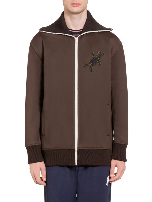 Marni Sweatshirt in double jersey with rabbit silhouette Man - 1