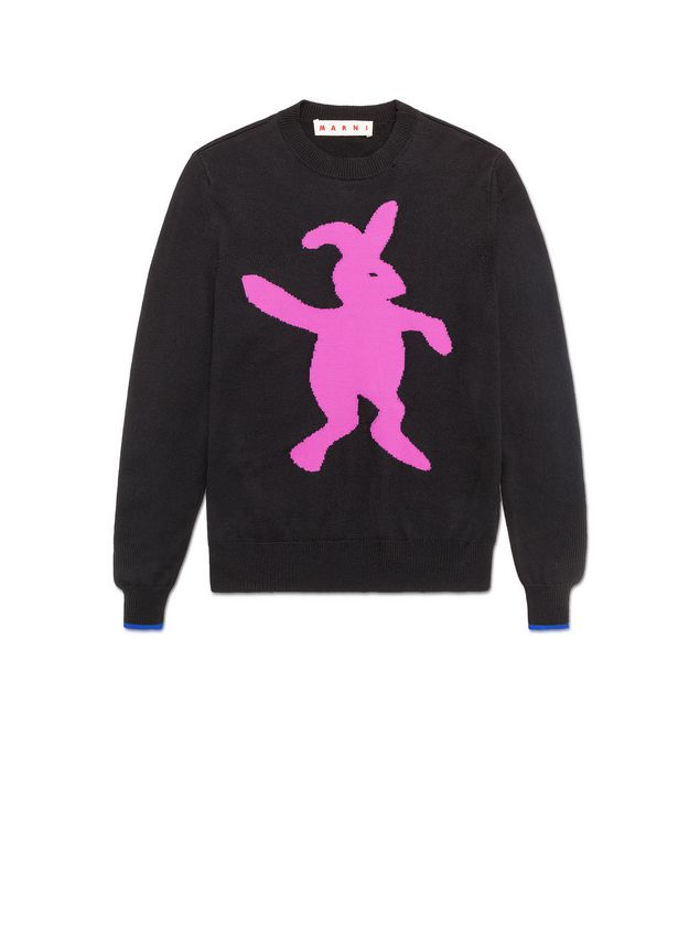 6d1e99d07ef11e MARNI Long Sleeve Jumper Woman Sweater in virgin wool and nylon with pink  rabbit e