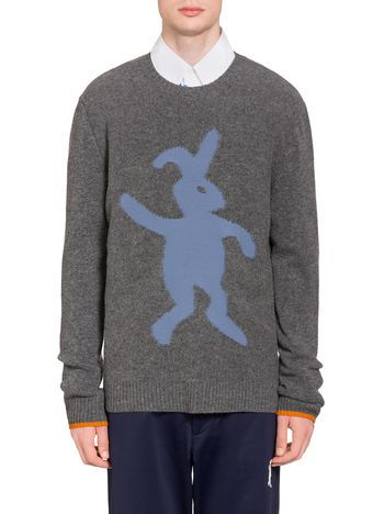 Marni Knit in virgin wool with a bunny silhouette Man