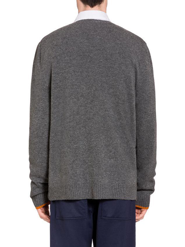 Marni Virgin wool sweater with rabbit silhouette Man