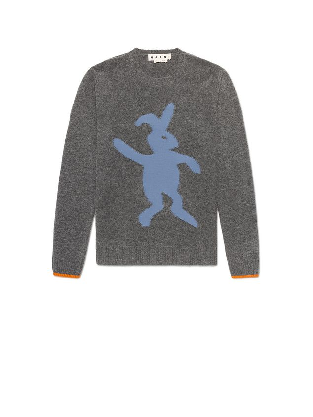 Marni Virgin wool sweater with rabbit silhouette Man - 2