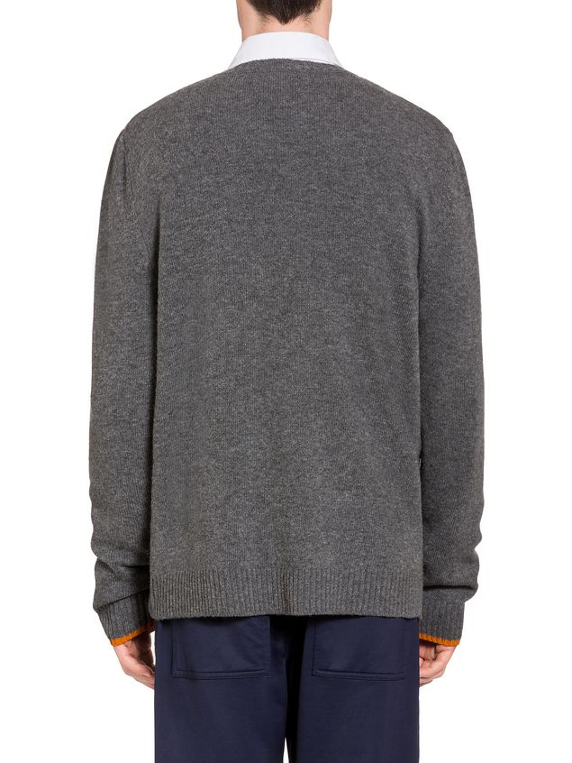 Marni Virgin wool sweater with rabbit silhouette Man - 3