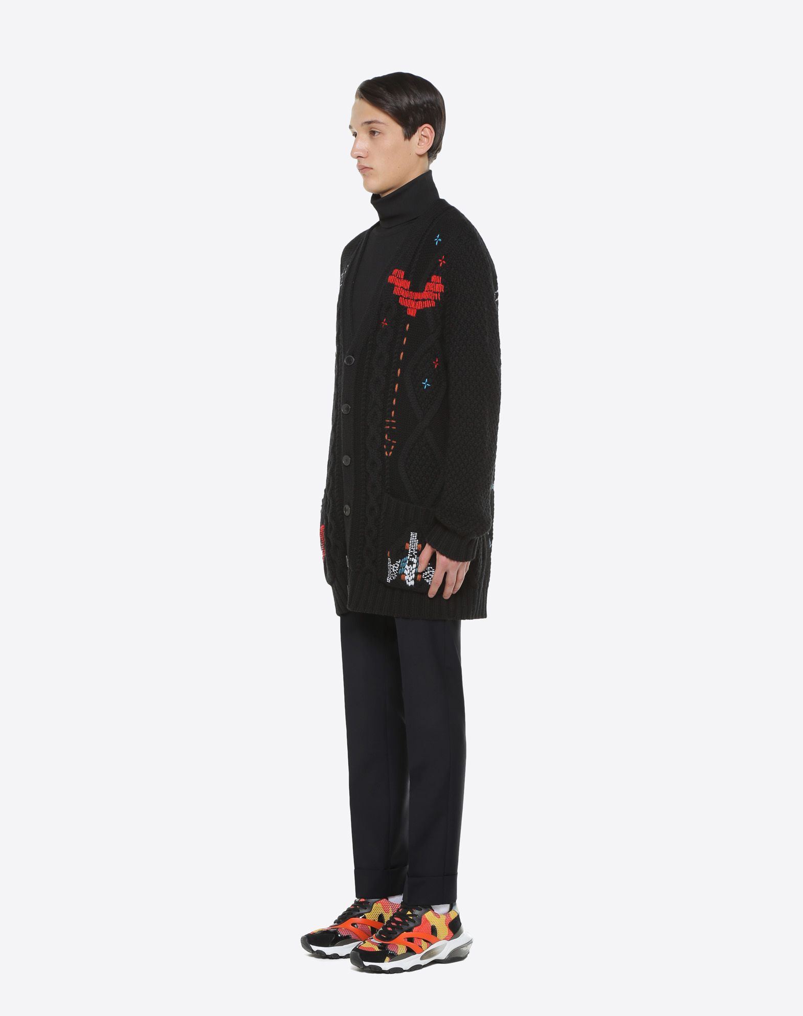 VALENTINO UOMO Oversized cardigan with Videogames Arcade embroidery Cardigan U d
