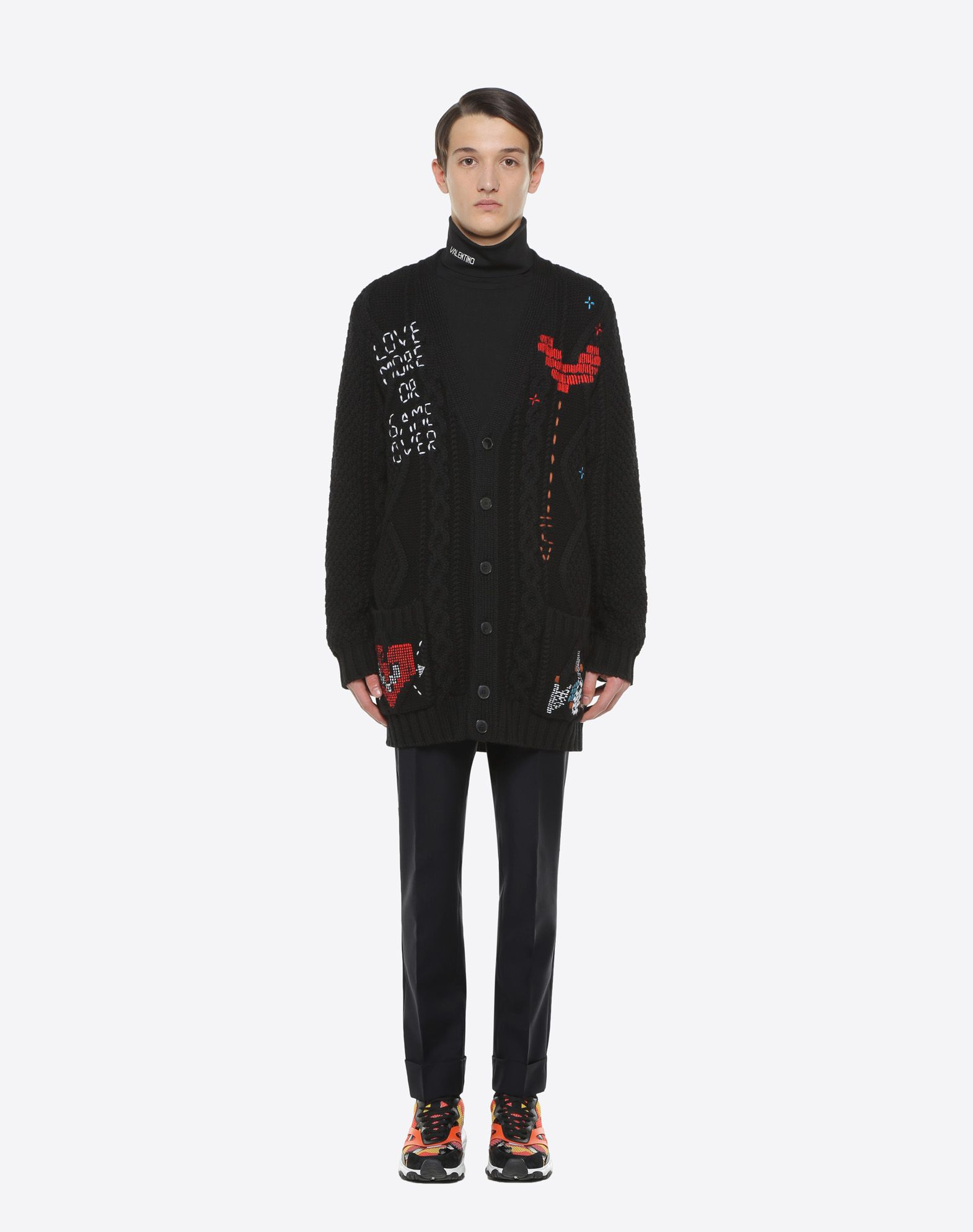 VALENTINO UOMO Oversized cardigan with Videogames Arcade embroidery Cardigan U r
