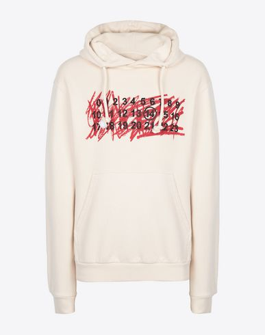 MAISON MARGIELA Hooded sweatshirt Man Cotton logo sweatshirt f