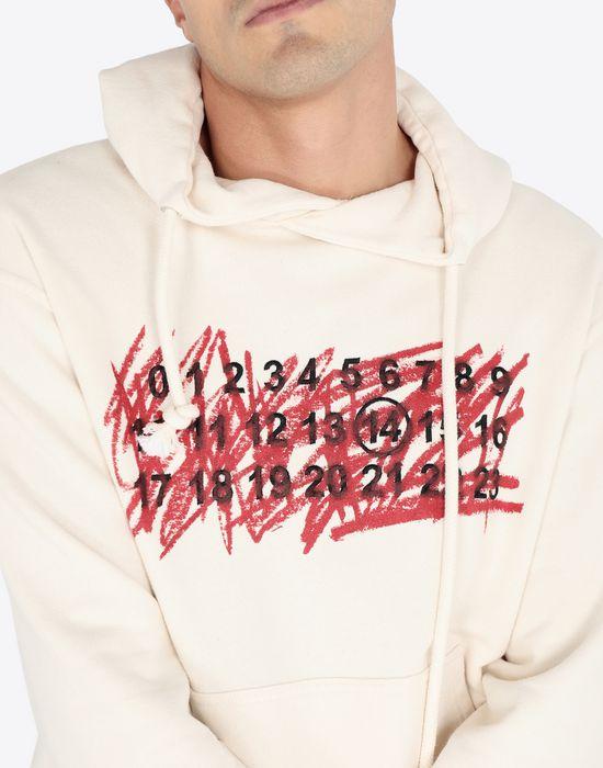MAISON MARGIELA Cotton logo sweatshirt Hooded sweatshirt [*** pickupInStoreShippingNotGuaranteed_info ***] a
