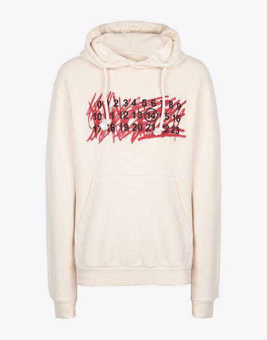 MAISON MARGIELA Cotton logo sweatshirt Hooded sweatshirt [*** pickupInStoreShippingNotGuaranteed_info ***] f