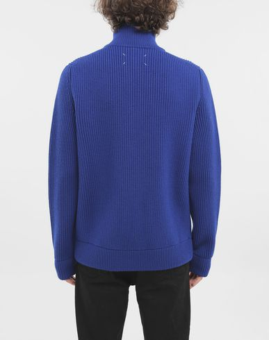 KNITWEAR Zip-up ribbed sweater Bright blue