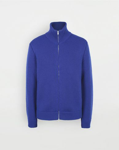 MAISON MARGIELA Cardigan [*** pickupInStoreShippingNotGuaranteed_info ***] Zip-up rib knit sweater f